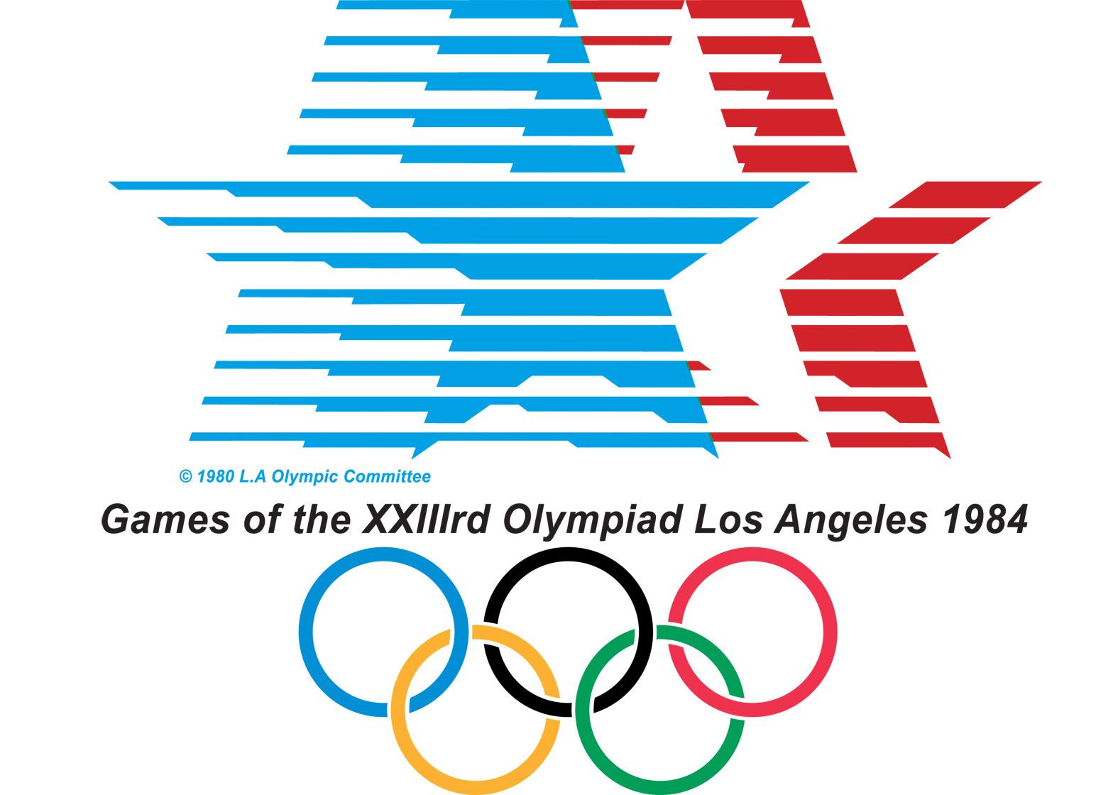 Logo of the 1984 Los Angeles Olympics