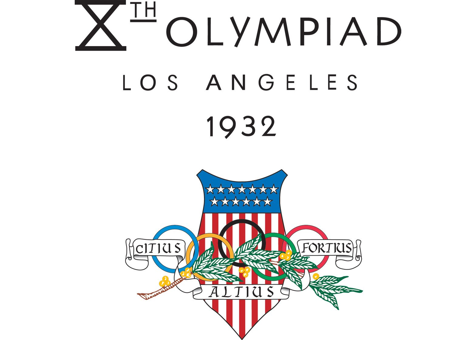 Logo of the 1932 Los Angeles Olympics