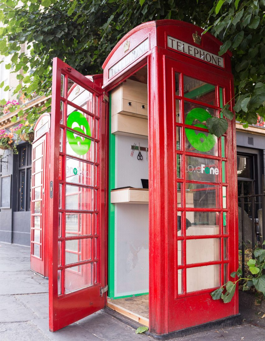 Lovefone turns UK's disused phone booths into tiny repair shops