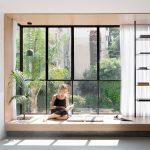 Thin black lines frame details in renovated Tel Aviv apartment
