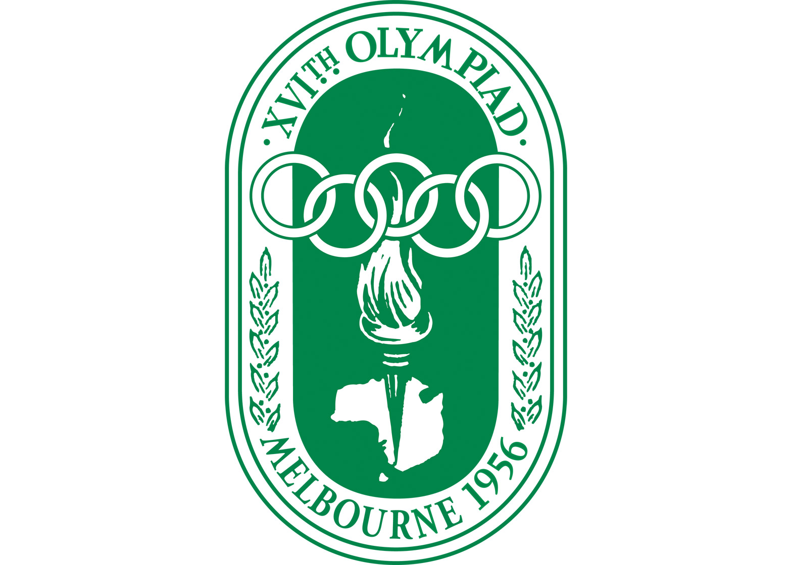 Logo of the 1956 Melbourne Olympics