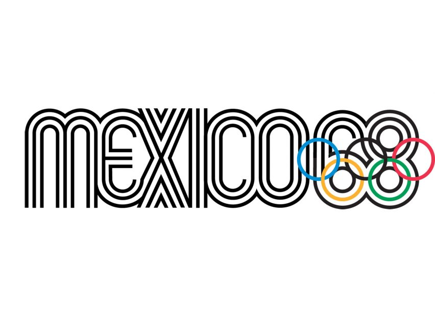 Logo of the 1968 Mexico City Olympics