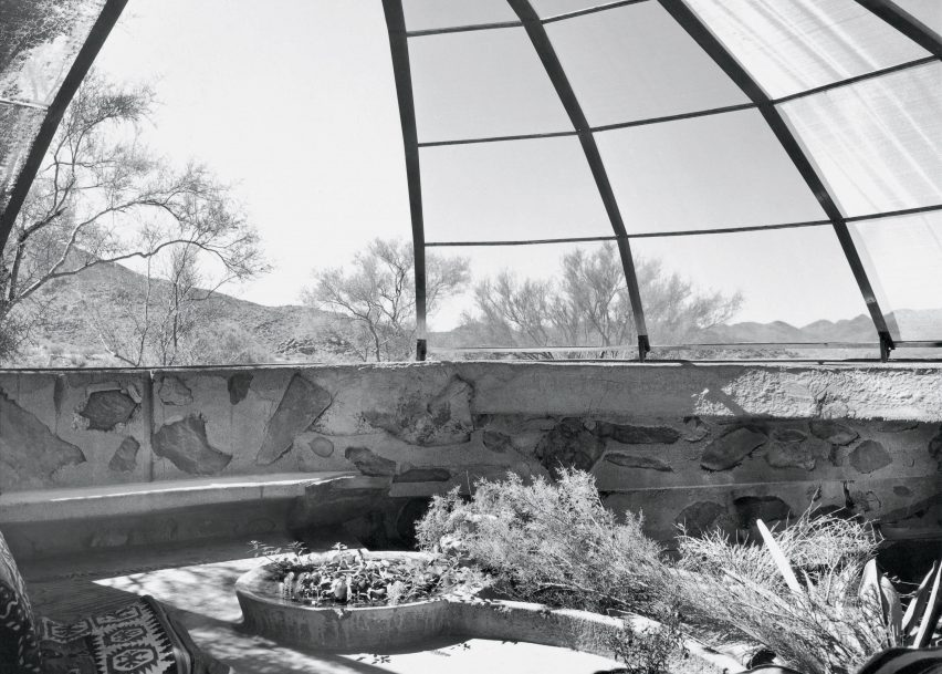 Woods Residence (The Dome House) by Soleri and Mills, Cave Creek, Arizona, 1950