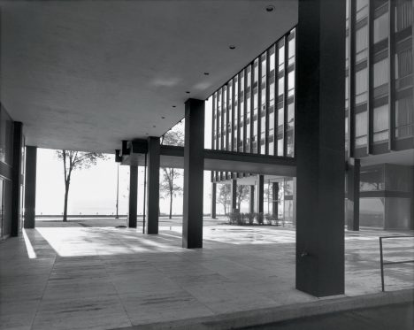 Lake Shore Drive Apartments by Ludwig Mies van der Rohe, Chicago, Illinois, photographed in 1963