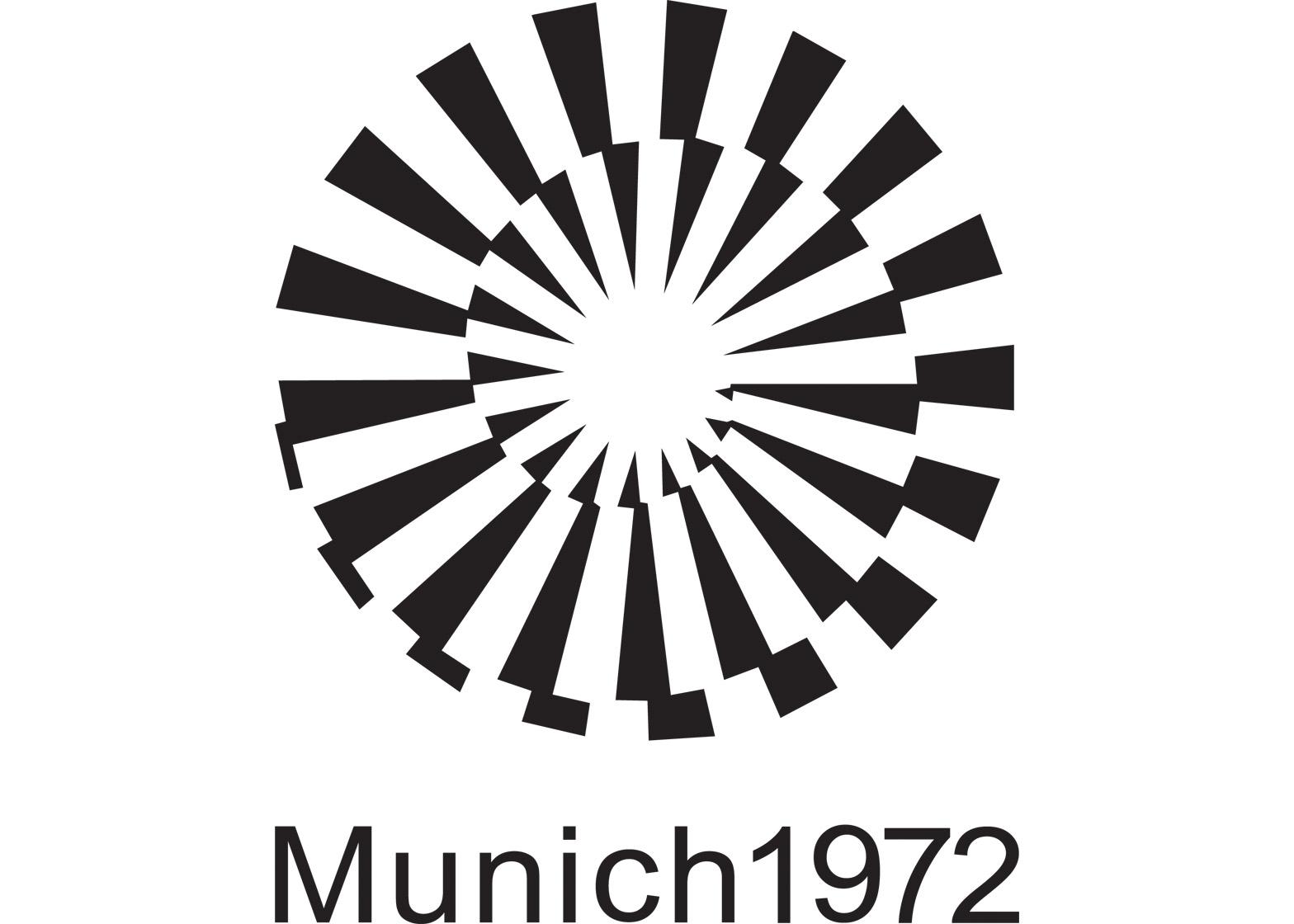Logo of the 1972 Munich Olympics