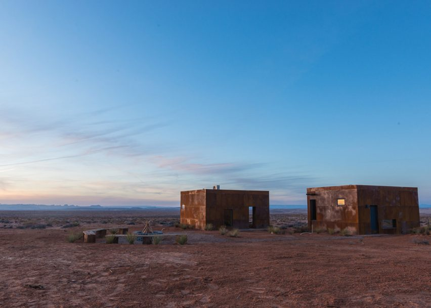 Navajo Micro Cabins by University of Colorado graduate students