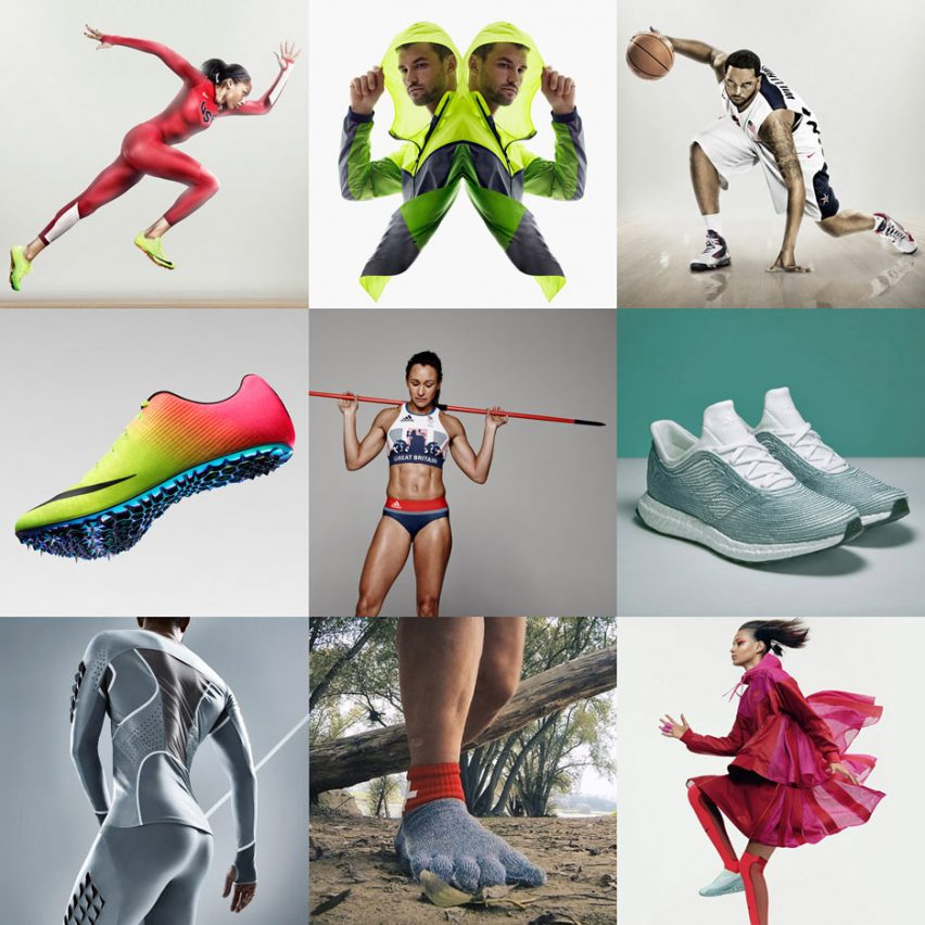 New Dezeen sportswear Pinterest board design