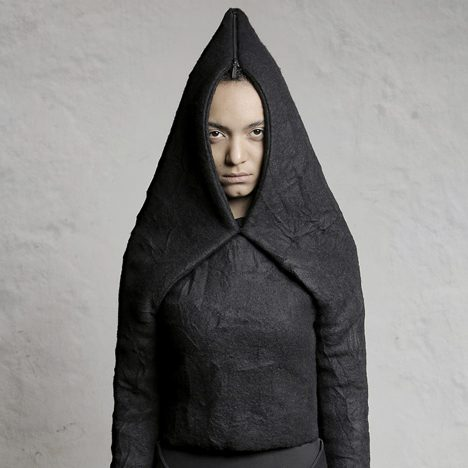 Nihilism clothing by DZHUS can be folded into different austere shapes