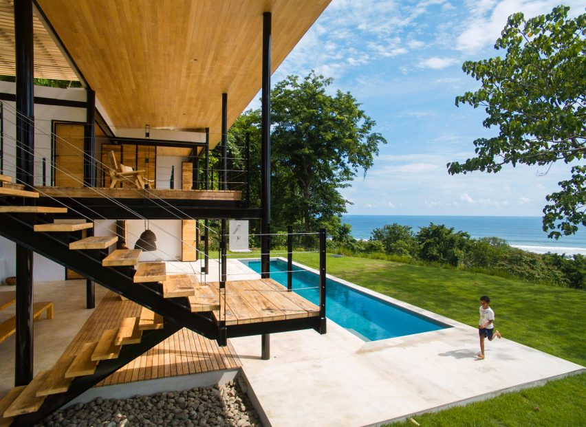 Benjamin Garcia Saxe's Ocean Eye House features movable wooden walls