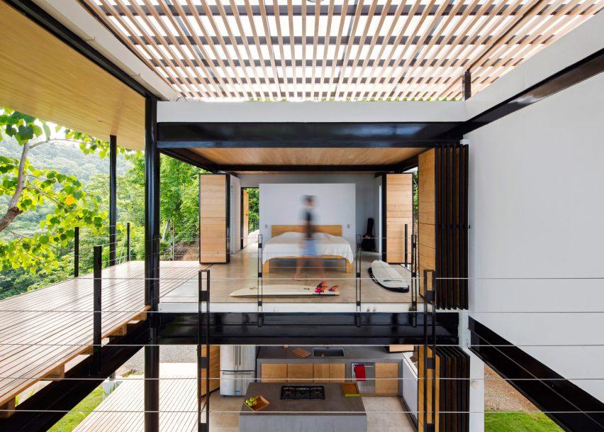 Benjamin Garcia Saxe's Ocean Eye House features movable wooden walls