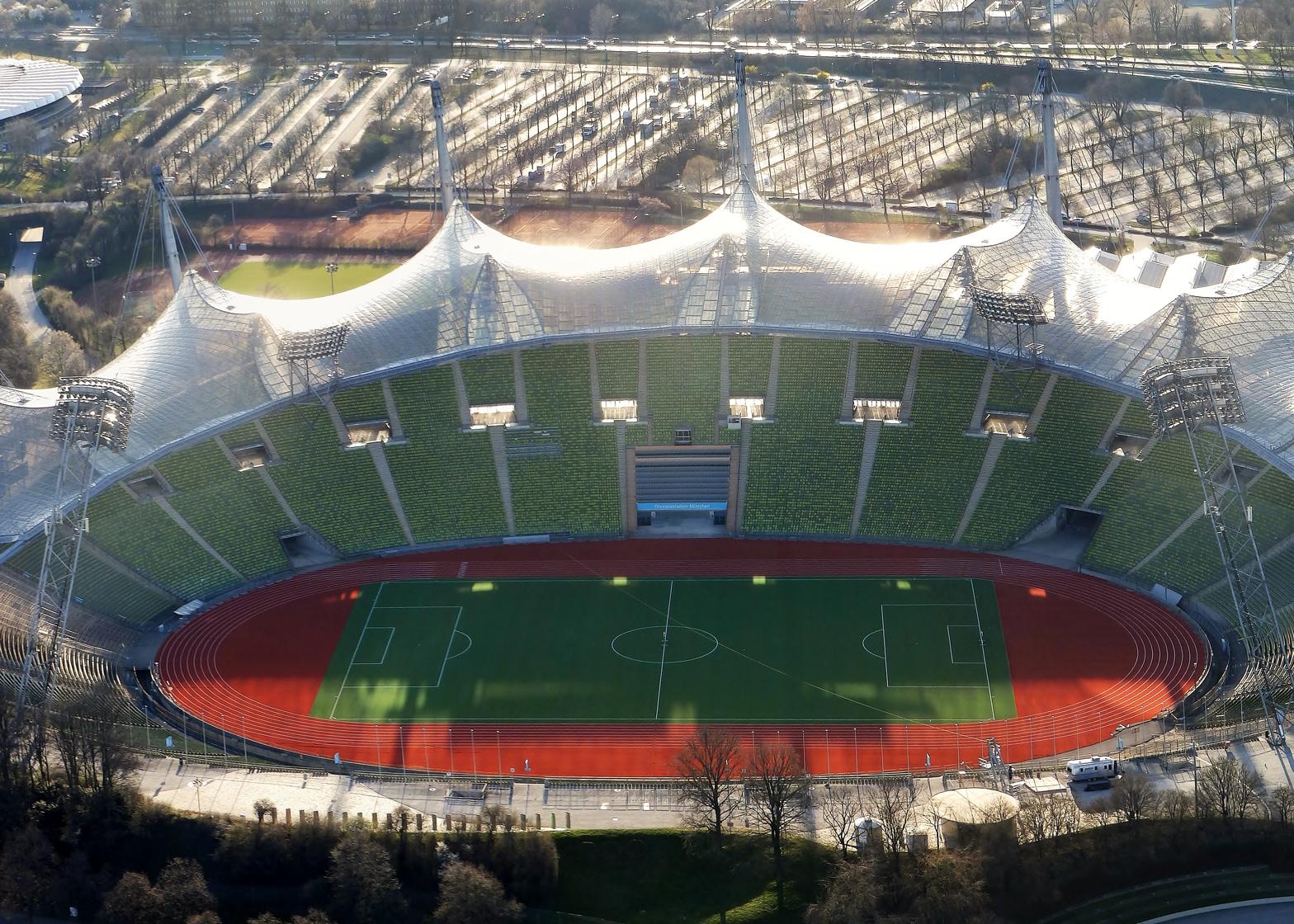 Olympiastadion München by Frei Otto, Munich 1972