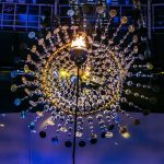 Diminutive Rio 2016 cauldron complemented by massive kinetic sculpture