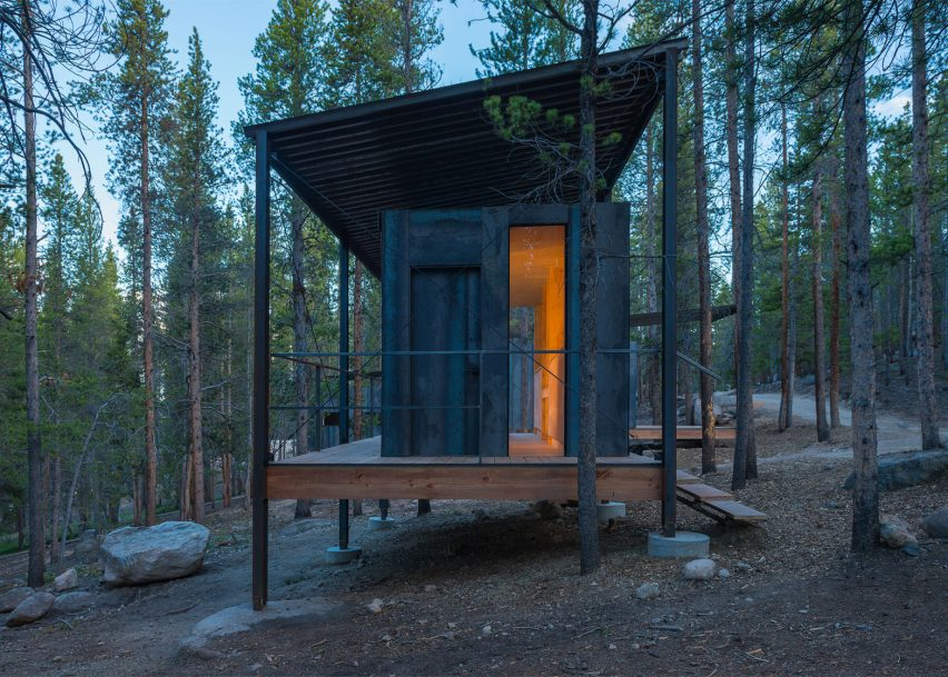 Outward Bound cabins by University of Colorado graduate students