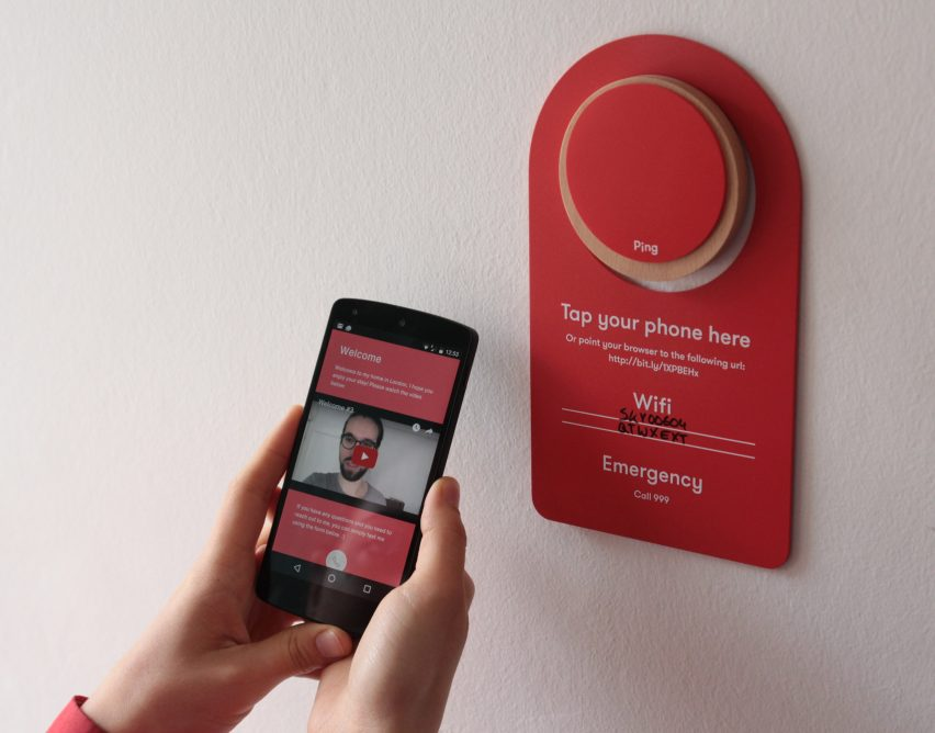 Kristian Knobloch's Ping system is a digital house manual for Airbnb guests