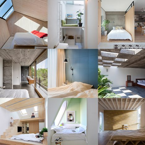 10 of the most popular bedrooms from Dezeen's Pinterest boards