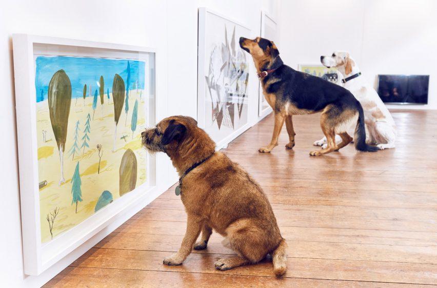 Dominic Wilcox designs contemporary art exhibition for dogs