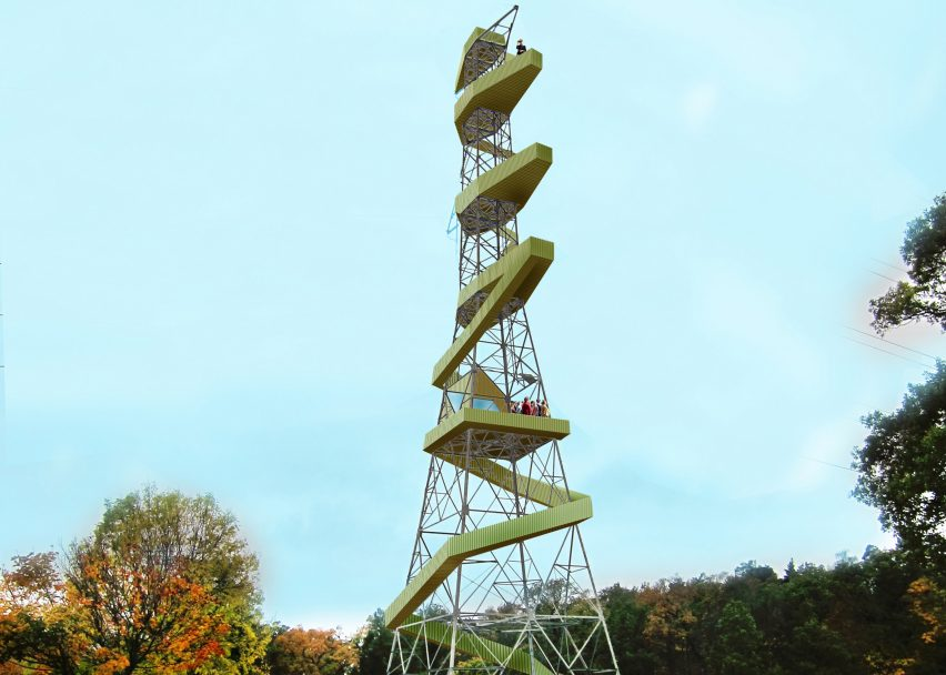 "Stockholm pylons converted into ""picnic towers"" in Anders Berensson proposal"