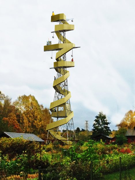 """Stockholm pylons converted into """"picnic towers"""" in plans by architect Anders Berensson"""