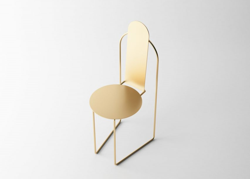 Pedro Venzon bases stackable Pudica Chair on Brazil's colonial architecture