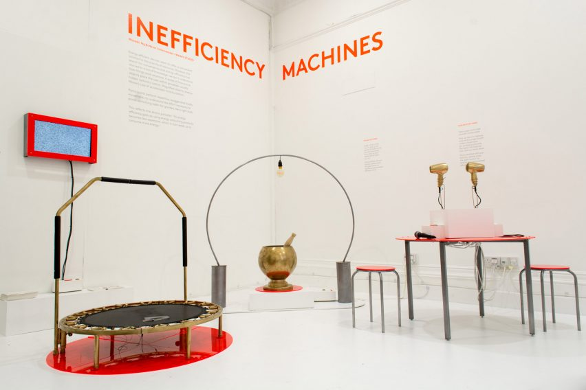 Inefficiency Machines installation by Meret Vollenweider and Wasabii Ng