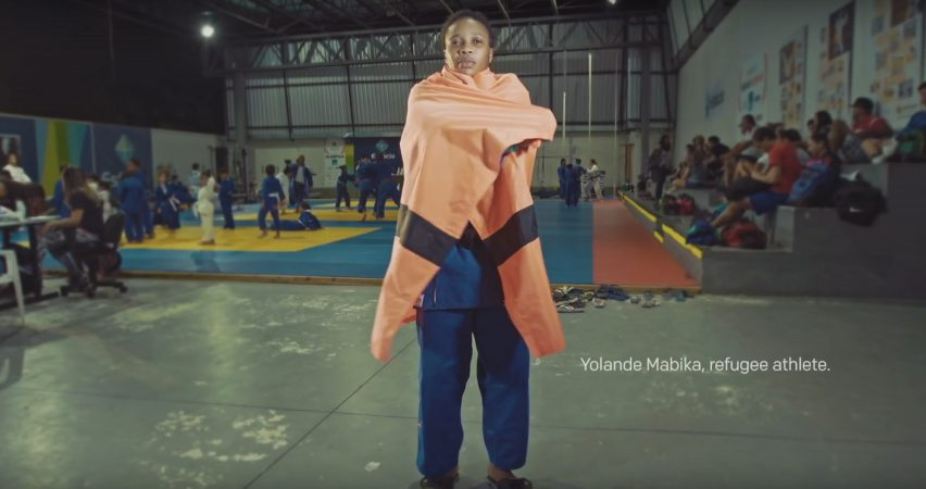 Refugees create flag for their Rio 2016 Olympic team