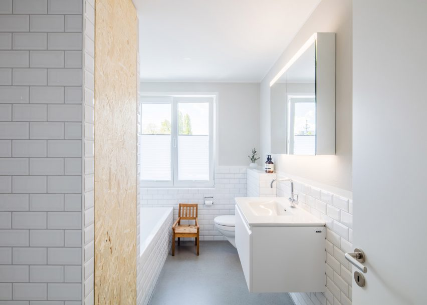 Rafael Schmid updates his Zurich home with textured chipboard and smooth anhydrite surfaces