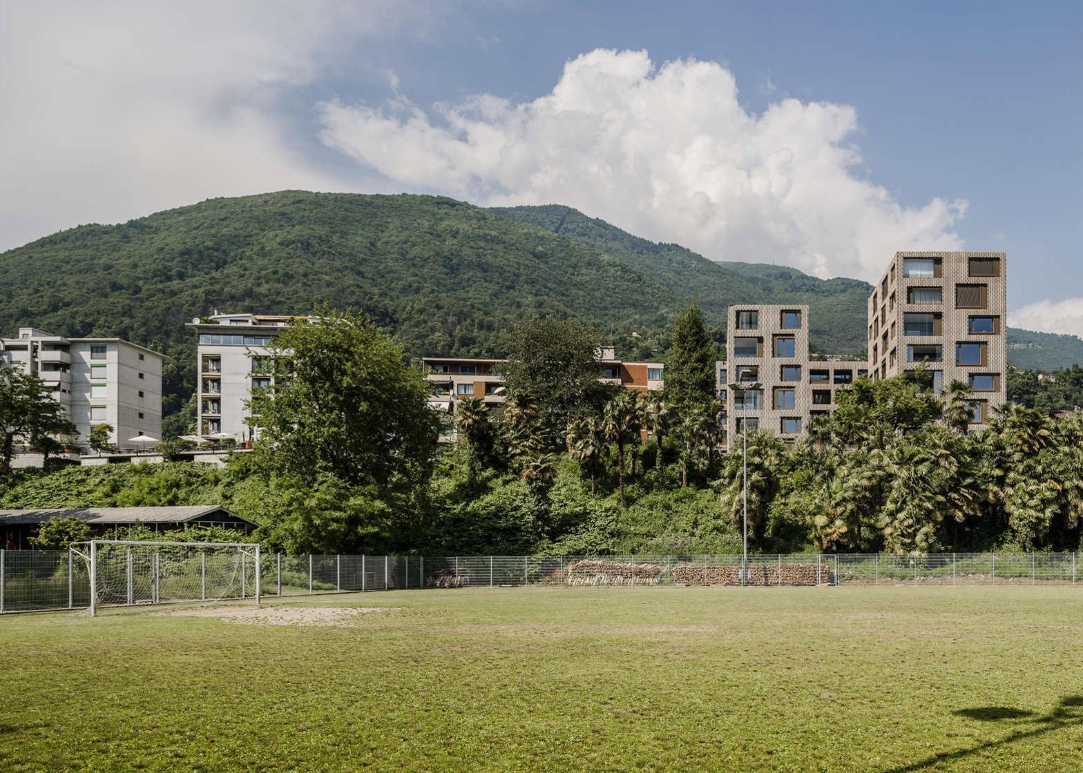 "Brick ""pixel patchwork"" envelops Residenza Le Stelle housing by Buzzi Studio Di Architettura"