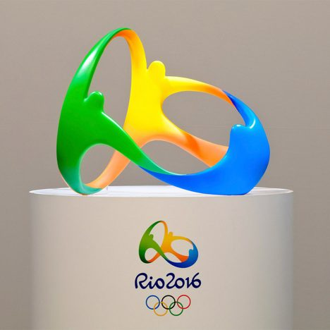 "Rio 2016 motif is ""first 3D logo in the history of the Olympics"" says designer"