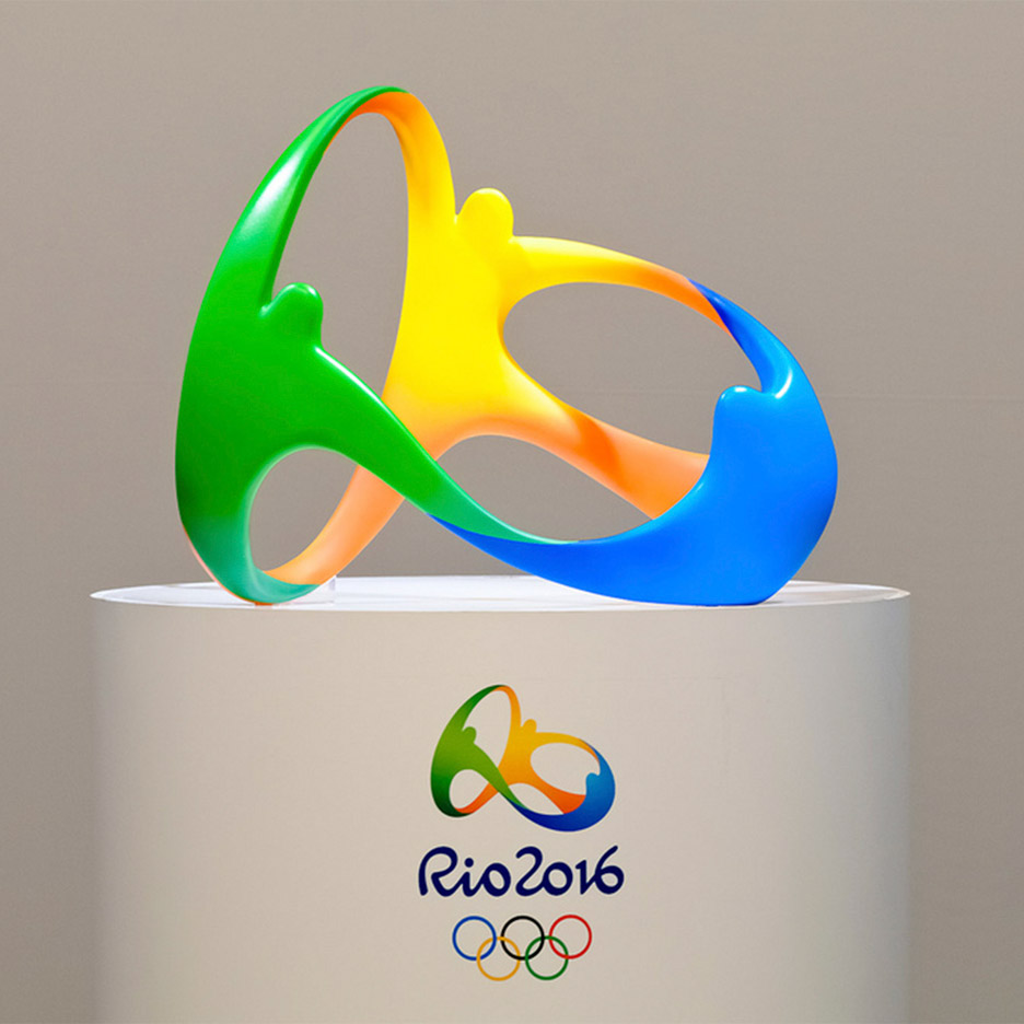 Olympic rings logo rio 2016 olympics logo designed by fred gelli - Rio 2016 Motif Is First 3d Logo In The History Of The Olympics Says Designer