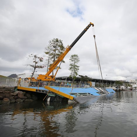 Olympic sailing ramp collapses ahead of Rio de Janeiro games