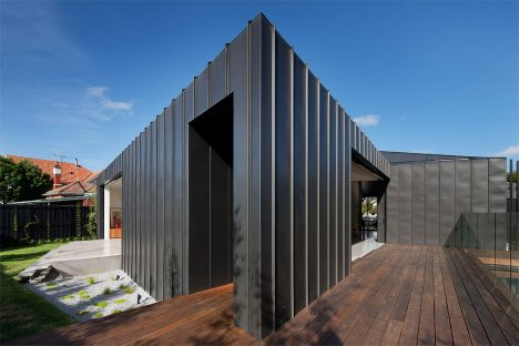 Matt Gibson's faceted Shadow House extends an Edwardian home in Melbourne