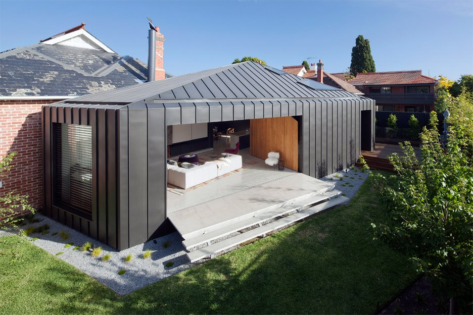 Shadow House Extension Stands In The Shade Of An Edwardian Home