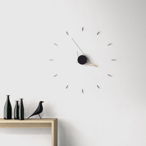 Poetic Lab's faceless Silo Clock shifts shape throughout the day