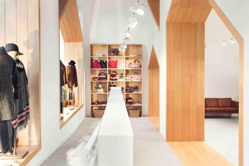 Pauzarq adds house-shaped archways to Sketch concept store in Spain