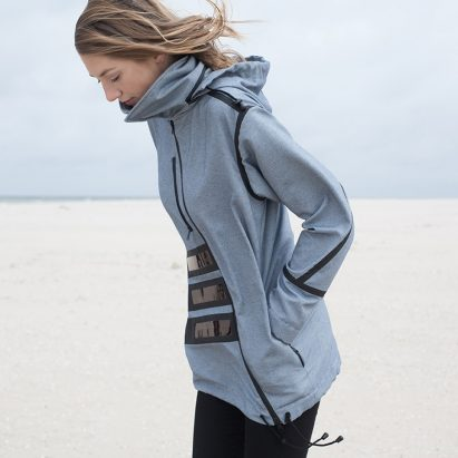 Pauline van Dongen designs solar-powered windbreaker for nature reserve guides