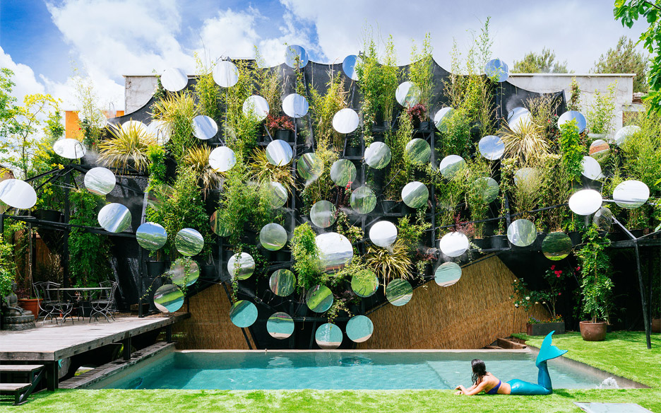 Madrid Swimming Pool Updated With Mist Mirrors And Plants