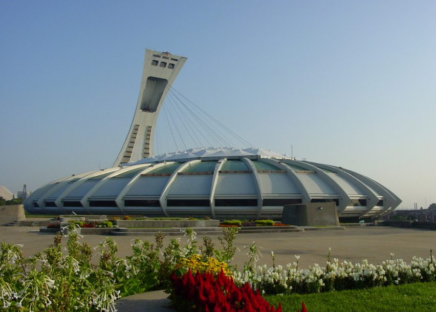 Montreal Olympic Stadium by Roger Taillibert, Montreal 1976