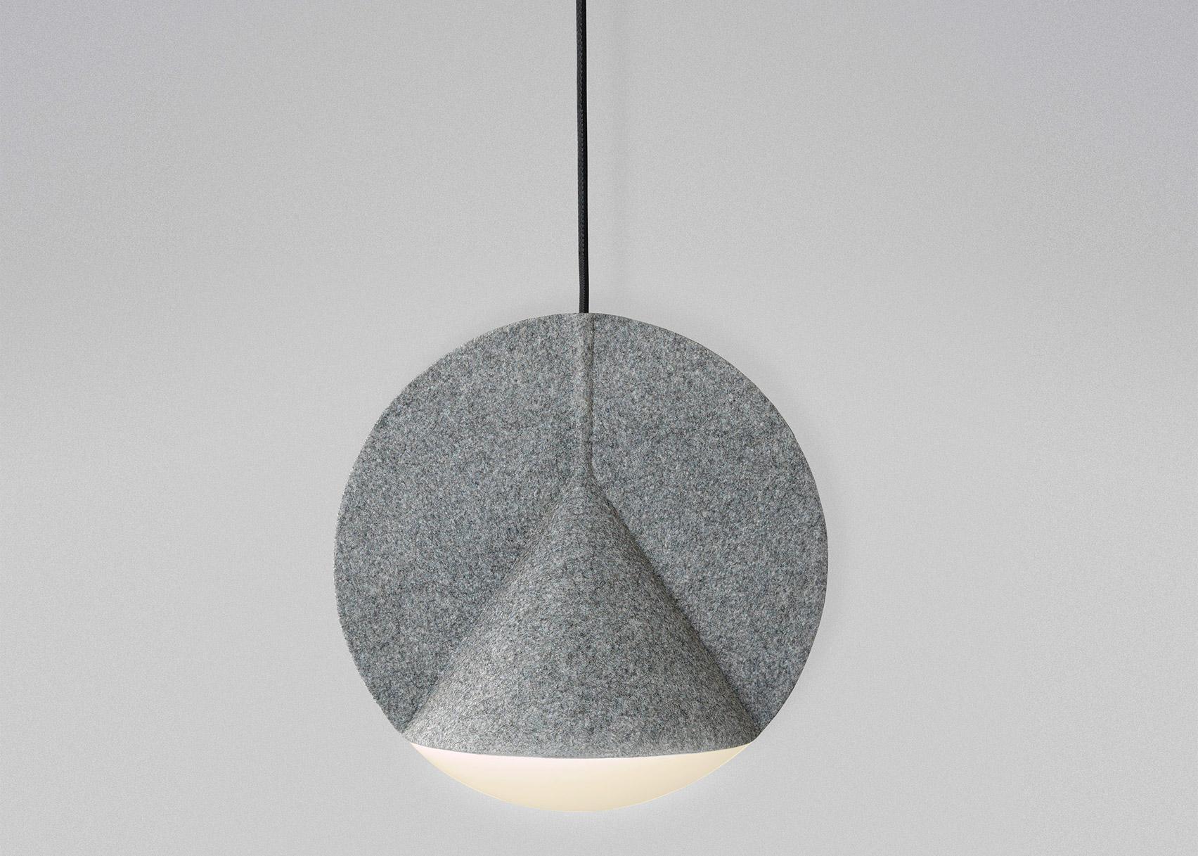 Outofstock designs geometric felt lamps for Bolia