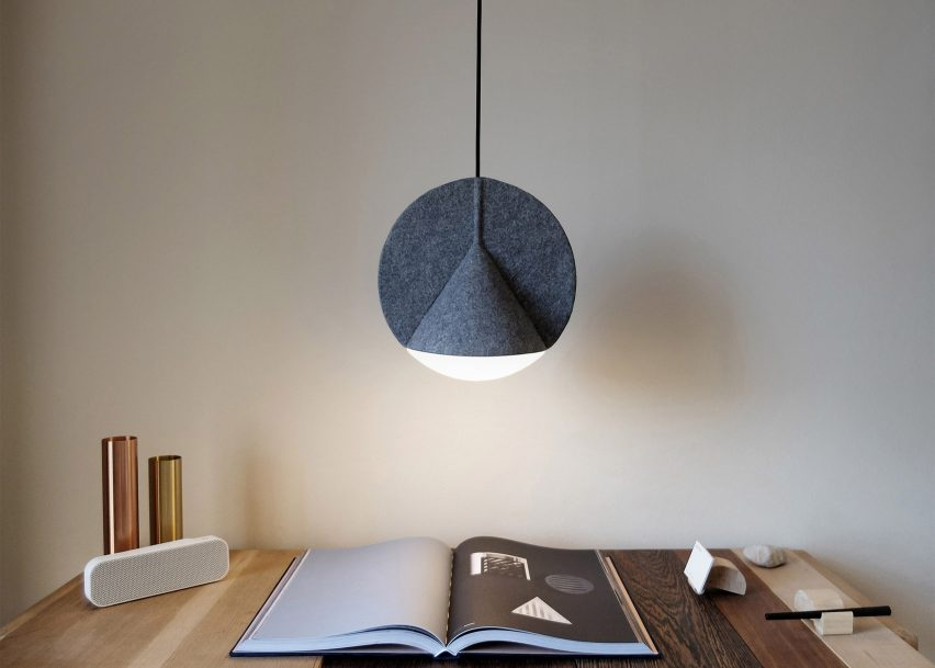 5 of 5 outofstock designs geometric felt lamps for bolia