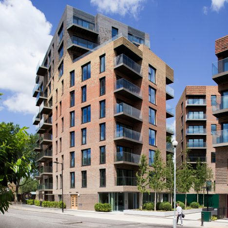 DRMM's Trafalgar Place development features multi-hued brickwork and communal gardens