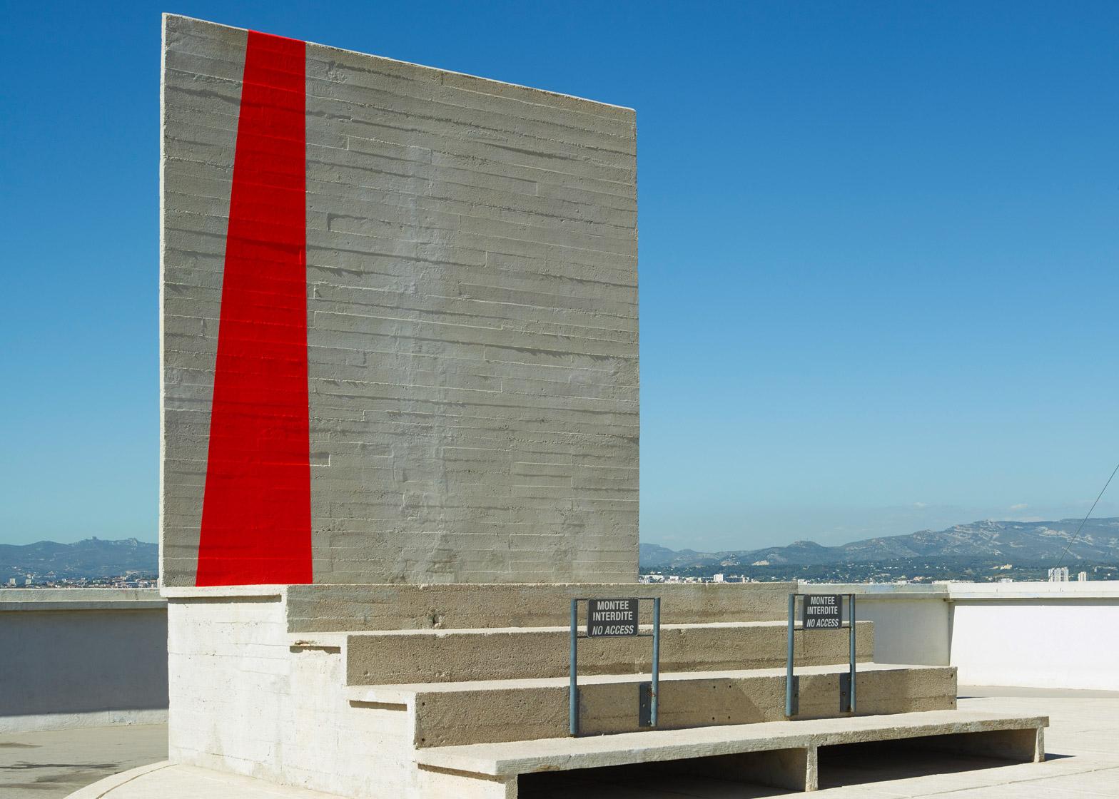 Le Corbusier Unite D Habitation felice varini creates optical illusion at le corbusier's