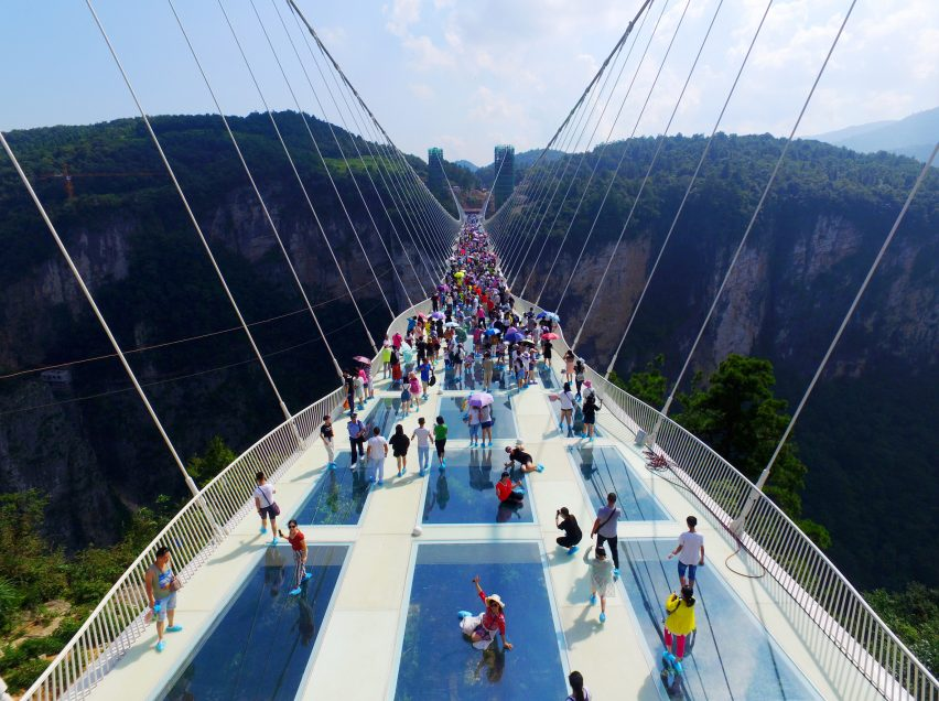 worlds tallest and longest glass bridge opens in china - Zhangjiajie Glass Bridge