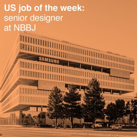 Us job of the week senior designer at nbbj unhinged group for Senior designer jobs