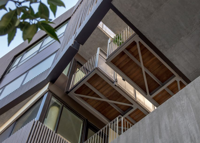 Fougeron Architecture clads a San Francisco condo building in dark wooden dowels
