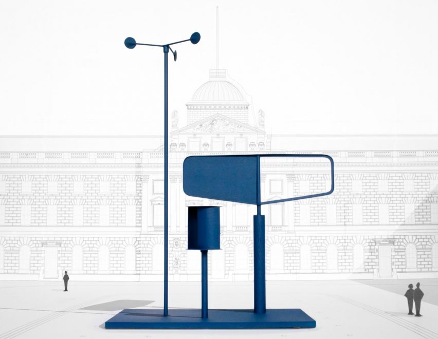 Forecast a weather vane-like structure at the London Design Biennale 2016