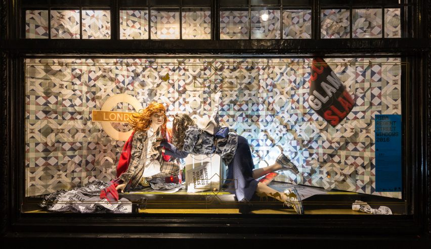 Liberty RIBA windows display 2016 with Architecture Social Club