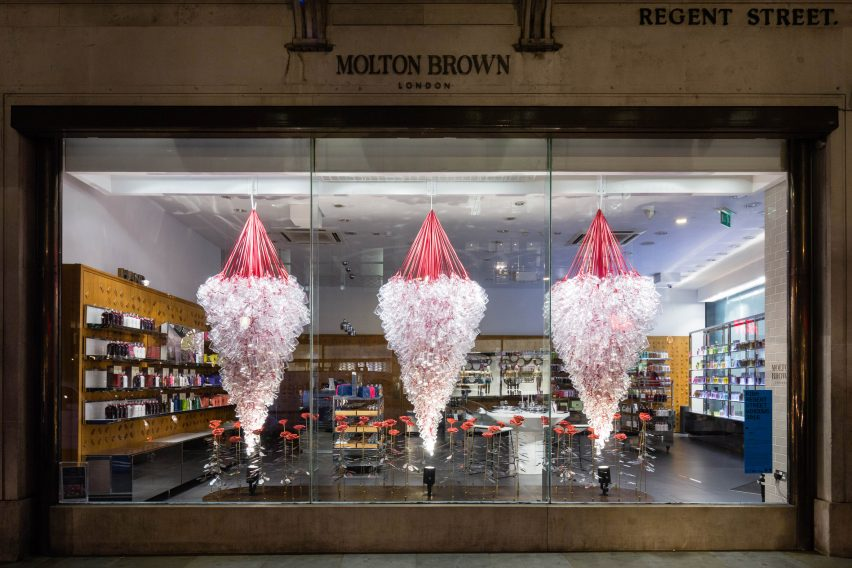 Molton Brown RIBA windows display 2016 with Knox Bhavan & Susie MacMurray