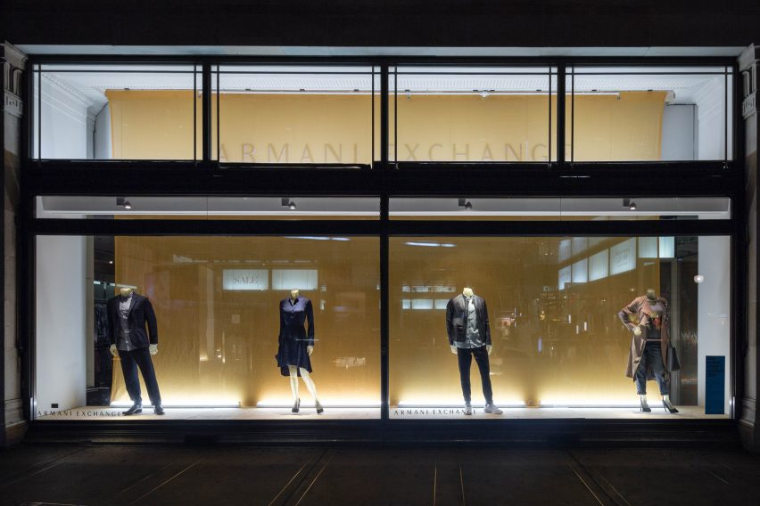 Armani Exchange RIBA window display 2016 with Matheson Whiteley