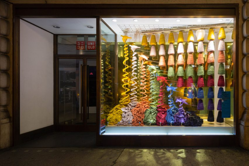 Uniqlo RIBA window display 2016 with Projects Office