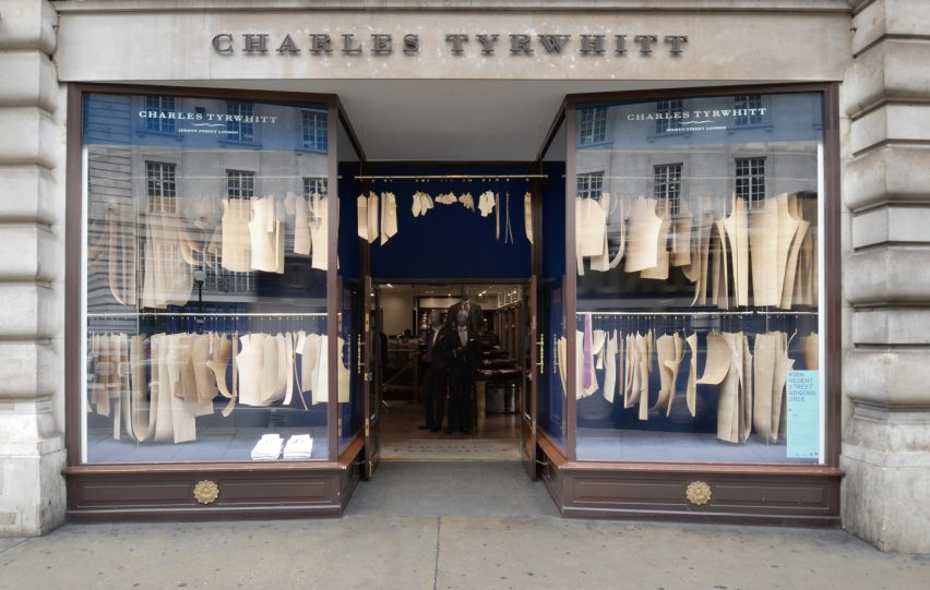 Charles Tyrwhitt RIBA window display 2016 with Bureau de Change